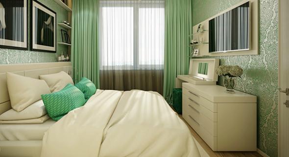 Комод напротив кровати