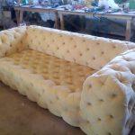 Мягкий диван с каретной стяжкой своими руками