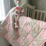 Нежное лоскутное одеяло для девочки