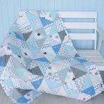 """Одеяло для новорожденного мальчика в стиле пэчворк """"Облако"""""""