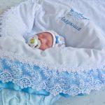 Именное одеяло для новорожденного на выписку