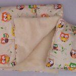 Одеяло и подушка с совушками для малышки