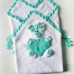 Плед-конверт с мишуткой для малыша