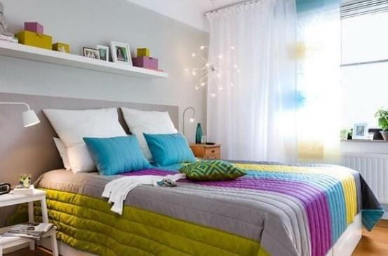 Покрывало сделает уютной спальню