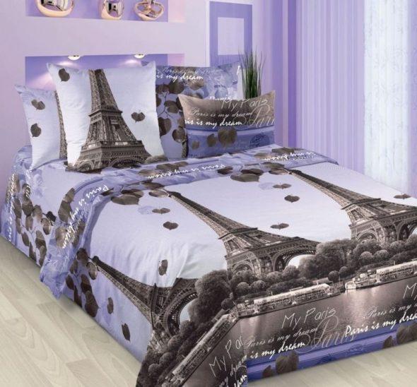 """Постельное белье """"Романтика Парижа"""""""