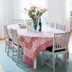 Прямоугольная скатерть для овального обеденного стола