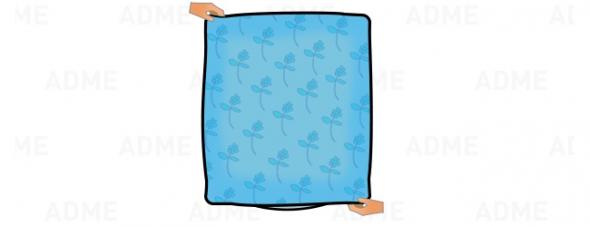 Раскручиваем одеяло до конца