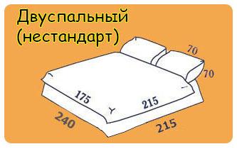 Нестандартный двуспальный комплект