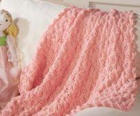 Розовый детский плед