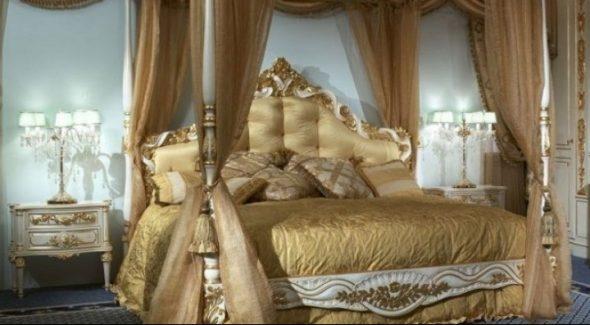 Классическое оформление кровати