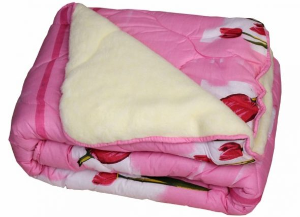 Теплое двусторонние одеяло