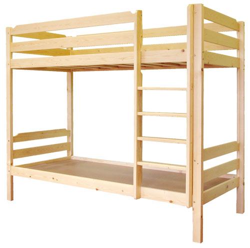 Удобная деревянная двухъярусная кровать