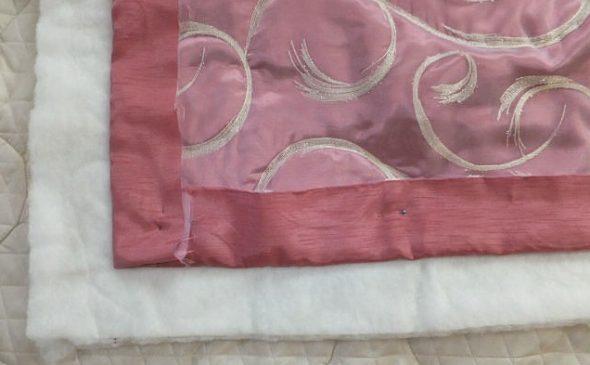 Закрепление трех слоев ткани