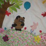 """Детское лоскутное одеяло """"Винни пух"""""""