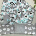 Детское одеяло и подушки в лоскутной технике