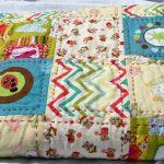 Детское плюшевое одеяло из отдельных фрагментов, стеганое вручную