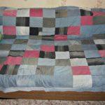 Джинсовое покрывало-одеяло из лоскутков