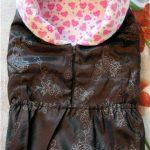 Коричневый с розовым конверт-одеяло своими руками