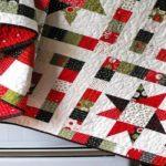 Красивое стеганое одеяло на новогоднюю тематику