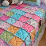 Лоскутное одеяло с бахромой своими руками
