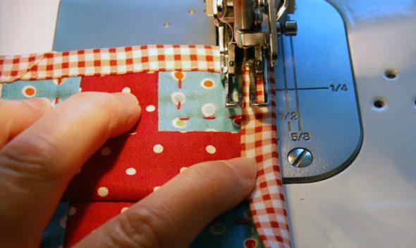 Обработка края одеяла