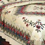 Одеяло из лоскутков с интересным рисунком