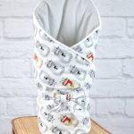 Одеяло-кокон с котятами для новорожденного