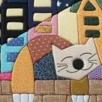 Одеяло с котом в технике пэчворк
