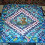 Одеяло с медвежонком в синих тонах