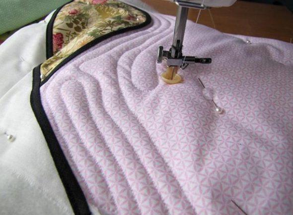 Прямая стежка одеяла