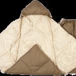 Пуховый конверт-одеяло для новорожденного «Серый гусенок»