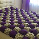 Шикарное двухспальное одеяло-бонбон с рисунком по диагонали