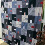 Шикарное одеяло ручной работы из джинсов