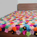 Шикарный цветочный плед для кровати девочки подростка