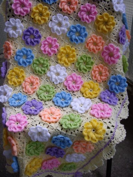 Шикарный цветочный плед