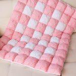 Теплое одеяло для новорожденной девочки из комбинированных материалов
