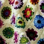 Вязание крючком пледы цветочными мотивами