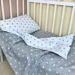 Детское двустороннее постлеьное в кроватку для мальчика или девочки