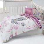 Девочковый постельный комплект с зайками