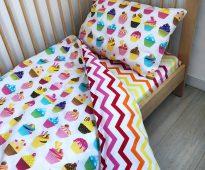 Комбинированный двусторонний постельный комплект для ребенка