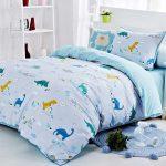 Комплект детского постельного из сатина с динозаврами