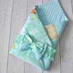 Плюшевый конверт-одеяло для выписки и прогулок