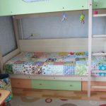 Лоскутное покрывало-одеяло для детской двухъярусной кровати
