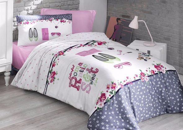 Нежный комплект постельного для девочки