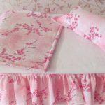 Нежный розовый комплект для кукольной кроватки