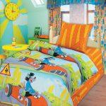 Постельное белье для детской комнаты с мультгероями
