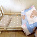 """Постельное белье в кукольную кроватку """"Мишутка"""""""