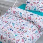 Постельное, сшитое по размерам детской кроватки