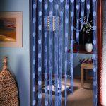 Оригинальные голубые декоративные шторы