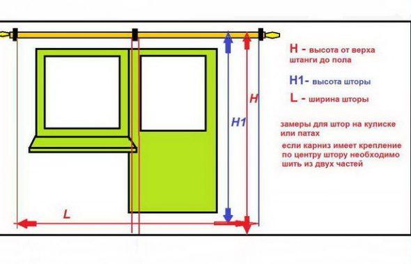 Схема соотношения длины и ширины